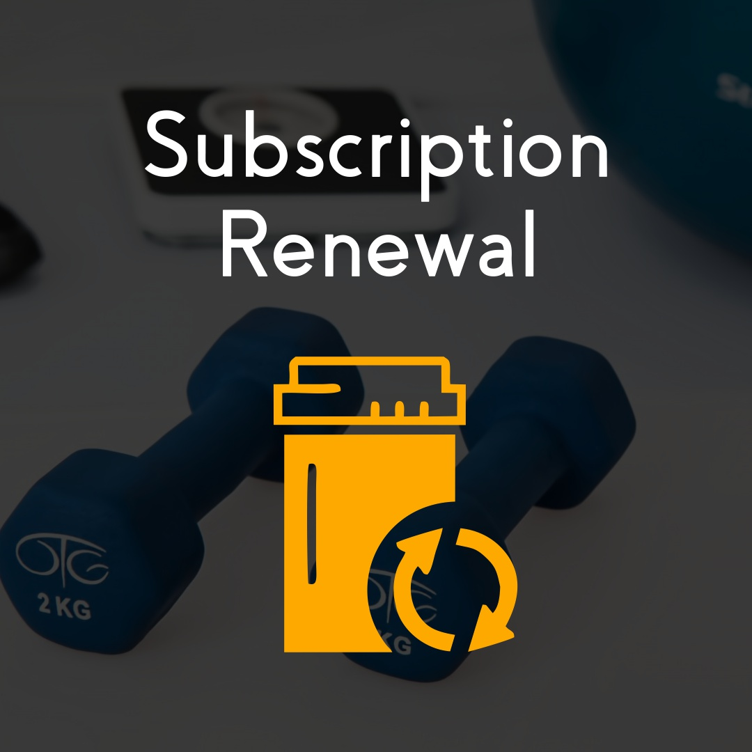 Renewing a license or subscription